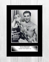 Rocky Marciano 2 A4 signed mounted photograph picture poster Choice of frame