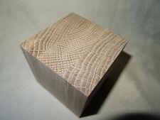 1 @ 85mm x 85mm x 85mm Square engineered Oak  HARDWOOD CUBES WOODEN BLOCK / cube
