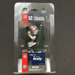 NFL Tom Brady 12 Patriots-Mini McFarlane Action Figure-Free Shipping