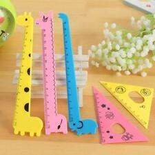 4x Cute Cat Giraffe Plastic Ruler school Kids stationary Essentials Set New Pop
