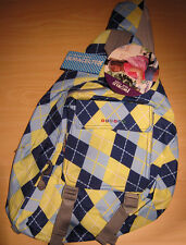 """J World """"Kitten"""" Argyle-Navy Sling Bag - New with Tags - 19"""" - Backpack"""