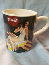1997 Vintage Gibson Coca Cola Cups Logo Coffee Mugs Collectible Bathing Beauty