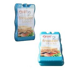 Freezer Ice Blocks Camping Lunch Boxes Picnic Cooler Bag Travel Cool Pack Of 2