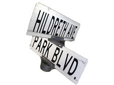Hildreth Avenue Ave and Park Blvd, Wildwood NJ Authentic Vintage Street Sign