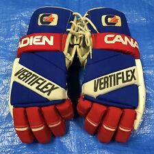 "15"" Easton Ice Roller Hockey Gloves Canadien Cooper Canada Air Wrist Wrap"