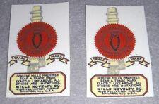 pr of Mills water slide decals not sticker for antique slot machine restoration