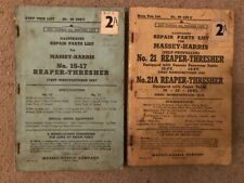 More details for masssey-harris 15-17 & 21 - 21a reaper threrasher spare parts list catalogue