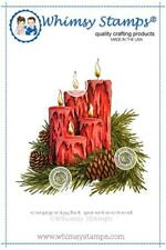 """Stempel """"Candle Light"""" Whimsy Stamps, Kerzengesteckt, Weihnachten, rubber stamp"""