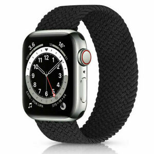 Braided Elastic Solo Loop Strap Band For Apple Watch iWatch SE Series 6 5 4 3 21