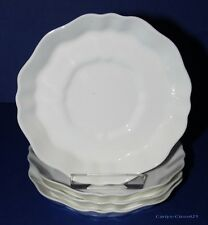"WEDGWOOD Etruria * 4 Vintage Rare Saucers * Raised Edges * 5"" (12.5cm) Diam *b"