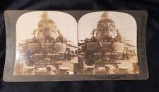 Photo Stereograph U S Battleship Oregon Forward Deck History 1898 William H Rau