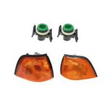 BMW 318i 318ti 325i Front Left and Right Turn Signal Lights with Sockets Kit