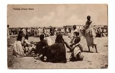 ERITREA, AFRICA ~ WOMEN CUSTOMERS AT FREE OUTDOOR BEAUTY SALON ~ c 1904-14