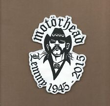 NEW 4 3/8 X 6 INCH MOTORHEAD LEMMY 1945-2015 IRON ON PATCH FREE SHIPPING