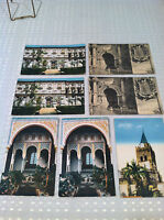 VINTAGE UNUSED Lot of 7 POSTCARDS Granada, Spain & Madeira, Portugal