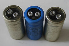 (3) Screw Terminal Can Capacitors - (2) Sprague Powerlytic 36D & (1) 36DX