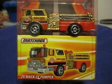 Best of Matchbox 1975 Mack CF Pumper Fire Truck GOLD Series 1 Rubber Tires!