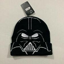 Disney NWT STAR WARS Men's One Size Black DARTH VADER Cuffed Beanie Hat