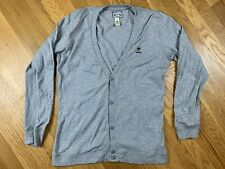 Diesel Industry Tricot & Co Mens Grey Cotton Blend Cardigan L
