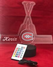 Montreal Canadiens NHL Light Up Night Light Lamp LED With Remote Personalized