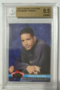1992 Manny Ramirez Stadium Club Dome #146 BGS GEM MINT Rookie