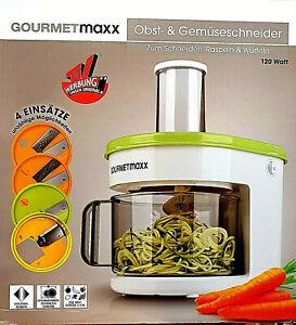 GOURMETmaxx Obstschneider Gemüseschneider Spiralschneider  elektrisch NEU