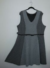 Lane Bryant Black White Dress size 18/20 New with Tags Skate Dress style
