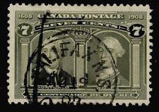 CANADA  #100 7c  DATED  'HALIFAX N.S.  AU 19 08'   1908 F-VF