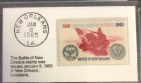 1965 5c Stamp Battle of New Orleans GMA Gem MT 10