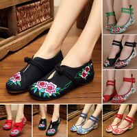 Chinese Embroidered Floral Shoes Women Ballerina Flats Ballet Cotton Loafer Best