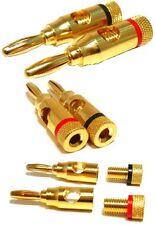 ULTRA GOLD Banana Plugs Screw Type Jack solderless plug terminal connectors