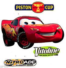 "6"" DISNEY CARS MCQUEEN PISTON  SET CHARACTER  PEEL STICK WALL BORDER CUT OUT"