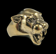 Bronze Wild Panther biker Ring Custom Sized Free Spirit Handmade Cat Puma R-53b