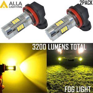 Alla Lighting 3200LM H8 H8LL 27-LED Driving Fog Light Bulb Lamp Golden Yellow