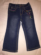 GUMBALLS Jean Pants Girls Toddlers 24 M Months NWOT Embroidered Hearts & Stars