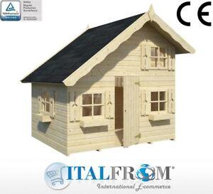 Casetta di Legno Tom Casetta da Giardino in Legno X Bambini 16mm ITALFROMBABY04