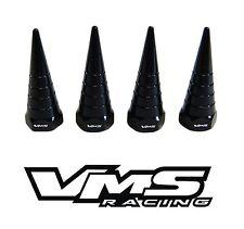 VMS BILLET ALUMINUM BLACK B18 NON VTEC VALVE COVER SPIRAL SPIKE NUTS BOLTS 8 PCS