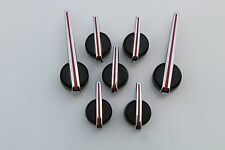 7) RED, BLACK & CHROME ESCALADE PREMIUM POINTER NEEDLE SET FOR GM TRUCK CLUSTERS