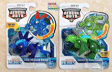 2X Transformers Rescue Bots - Chase & Boulder the Rescue Dino Bots - Dinosaurs