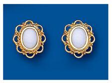 Opale Borchie opale orecchini Oro Giallo opale Orecchini A Perno