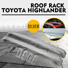 Fit Toyota Highlander LE XLE Limited 14-19 OE Style Roof Rack Cross Bars Silver