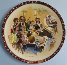 Wedgwood John Finnie Vintage China Plate 1987 The Christmas Pudding #3142A EUC