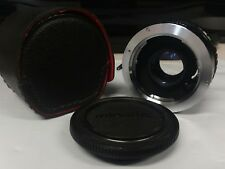 Minolta Camera Lens Auto Tele Converter 2X Made In Japan Leather Case