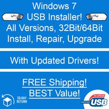 Windows 7 USB Installer - All Versions - Install, Repair, Upgrade - SSD, HDD