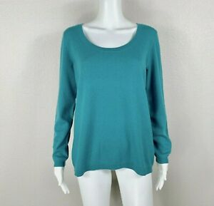 TALBOTS 100% Pure Cashmere Sweater Teal Size X (Fits A 12/14) - NTSF
