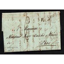 PR023 - 1811 Prefilatelica Napoleonica da Roma a Pisa con testo