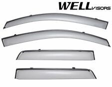 WellVisors Side Window Visors For 97-01 Mitsubishi Mirage Sedan W/ Black Trim