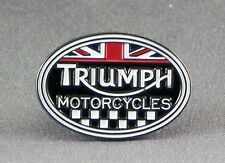 Metal Enamel Pin Badge Brooch Triumph Motorcycles Logo Motorbike Biker Ride Oval