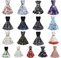 Women vintage prom ball evening party dress lady retro swing maxi dress sundress