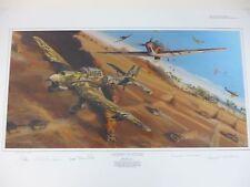 Desert Vulture by Robert Bailey Hurricane Ju-87B Stuka Bf109 WWII Africa